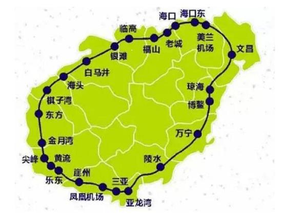 南山寺,蜈支洲岛等闻名景点串联成线,沿途共设立16个车站,再加上该