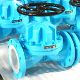 UHMWPE lined Diaphragm Valve