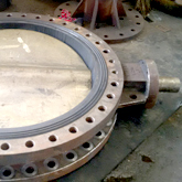 Large size bronze butterfly valve showing