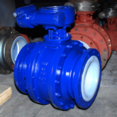 Teflon lined large size ball valve