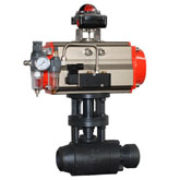Ball valve series showing - One