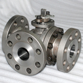 L type three way ball valve