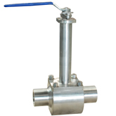Float type cryogenic service ball valve