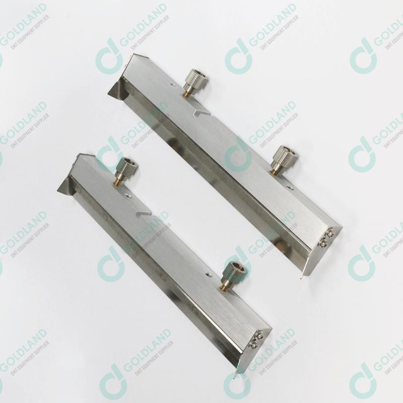 SQA302 SQY assy DEK 250mm Metal Clamped Squeegee 60 degree 15mm OVERHANG (Pair)