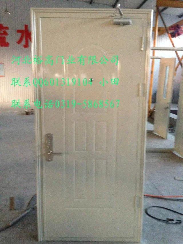 花边框门板带花型防火防盗门