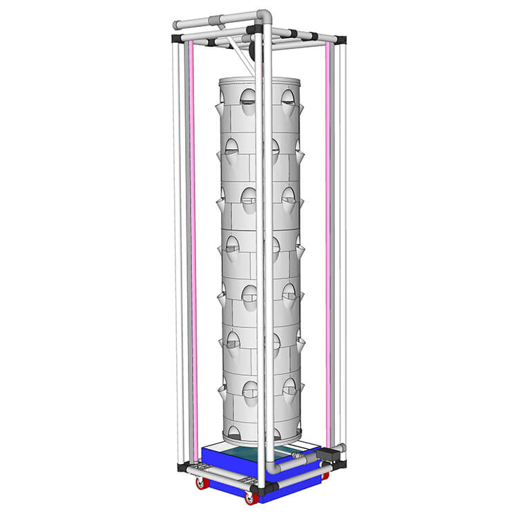 Picture of Rotating Hydroponic Tower