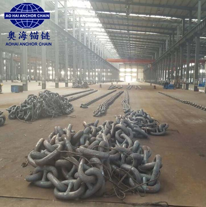 Ship flush butt welded anchor chain/AOHAI Anchor Chain Factory with IACS approval
