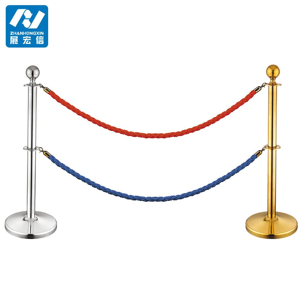 Concrete Pole Barriers : Portable hanging concrete base queue line rope stanchion