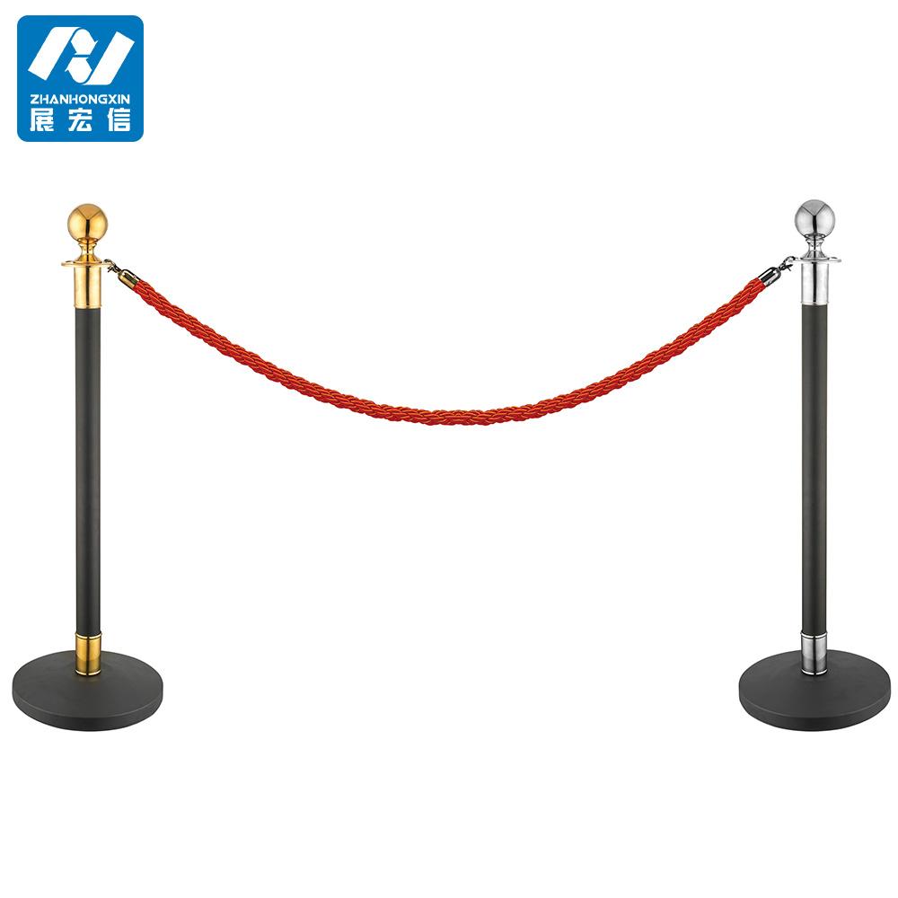 Ball top velvet rope stand