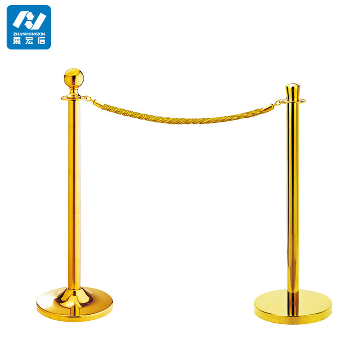 hotel crowd control rope pole barrier for event