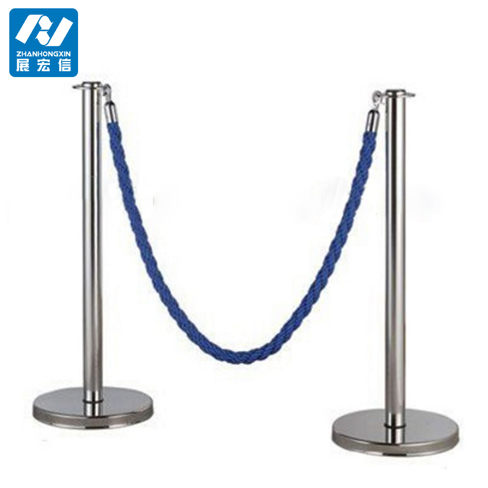 Queue Management System Polished Rope Post Barrier