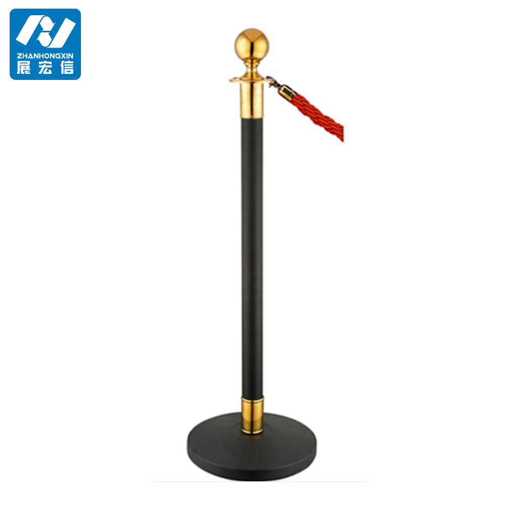 museum exhibition barrier stanchion,metal pole post stand for crowd control