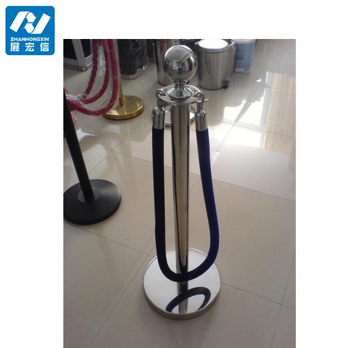 Blue Velvet Rope Barrier for Stanchion Posts