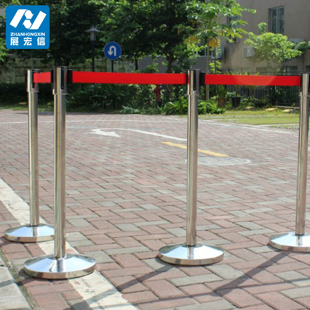 Stainless Steel Crowd Control Stanchion Exhibition Booth Construction