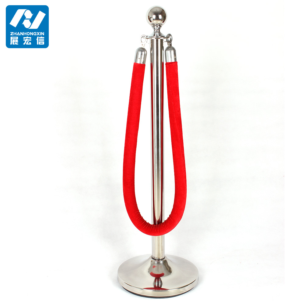 Cowed Metal Rope Stanchion Poles Stand