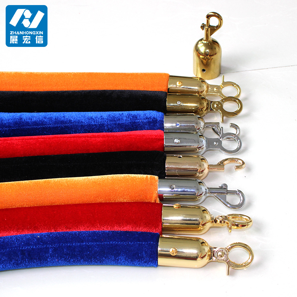 Queue rope stanchion barrier velvet rope