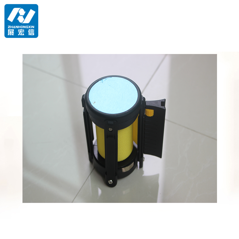 Retractable belt Cassette for crowd stanchion,cassette belt with triangle locking