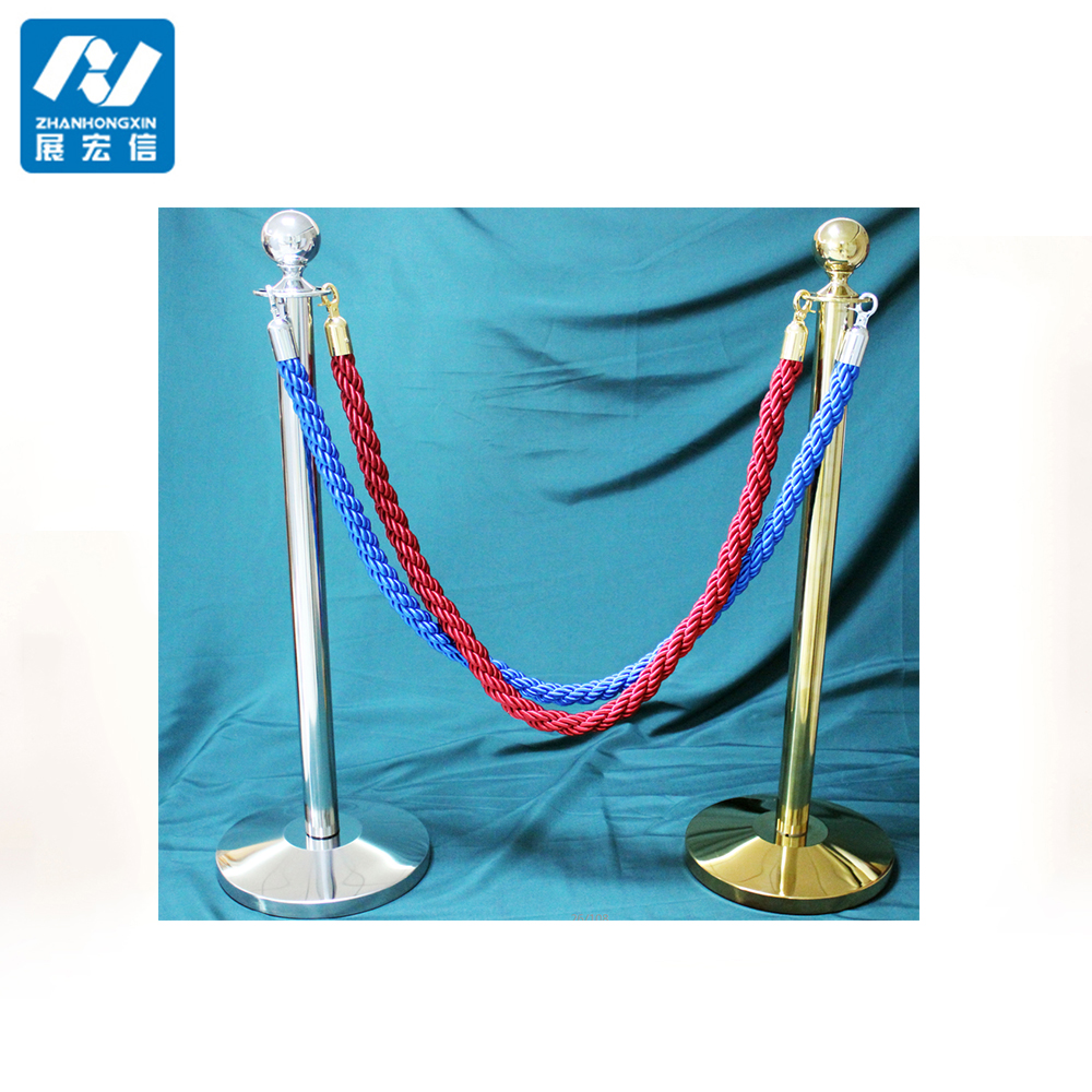 rope stand / portable crowd control post / braided rope stanchion