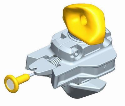 集装箱活动件-半自动扭锁