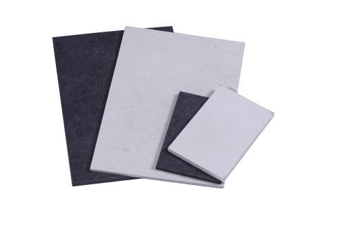White and Black Fiber Cement Board