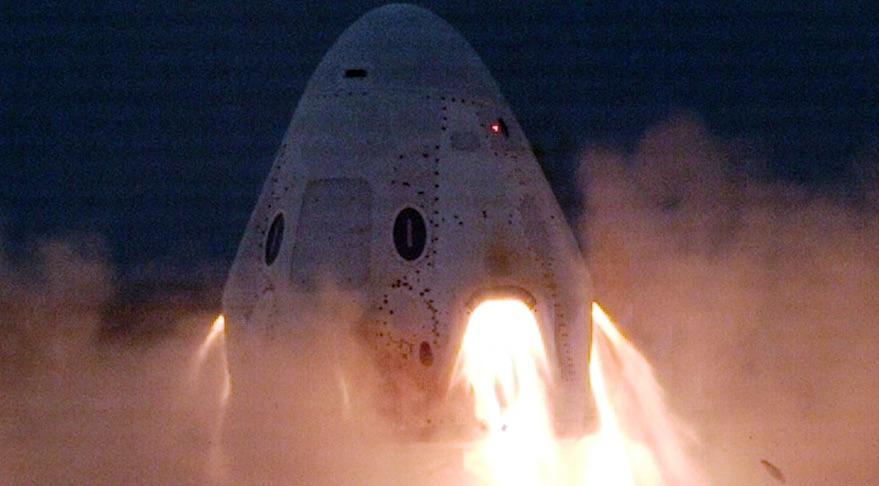 SpaceX成功测试Crew Dragon航天飞机中止系统推进器