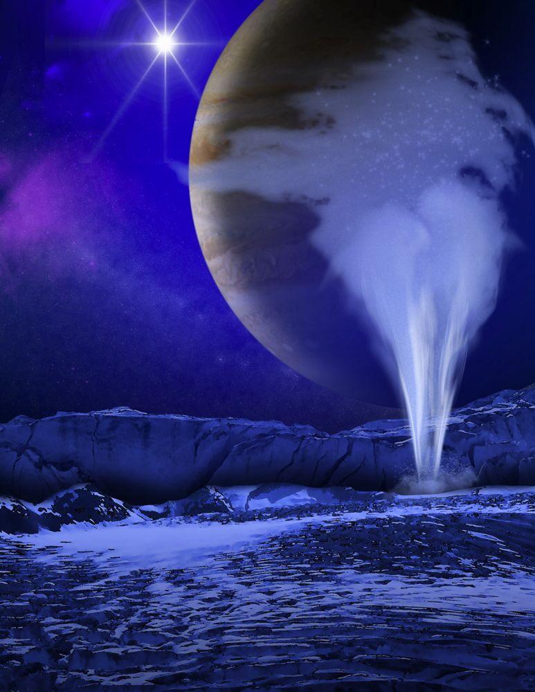 羽毛状的喷流中证实存在水蒸气 木卫二上或有生命