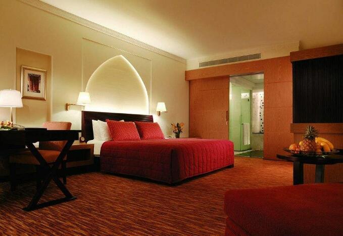 北京红色系酒店客房地毯-厂家现货定制
