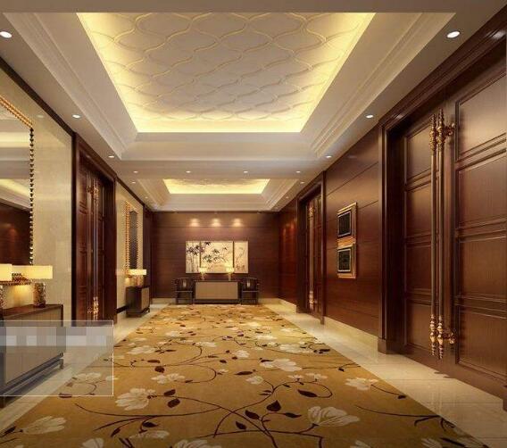 北京满铺腈纶酒店走廊地毯-厂家现货直供