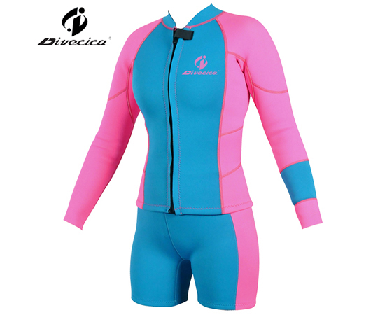 SS-6018 WOMEN SURF SUIT WITH DIFFERENT COLOR