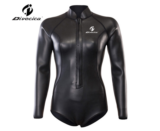 SS-6047 WOMEN GLIDE SKIN HIGHLEG LEOTARD SURFING SUIT