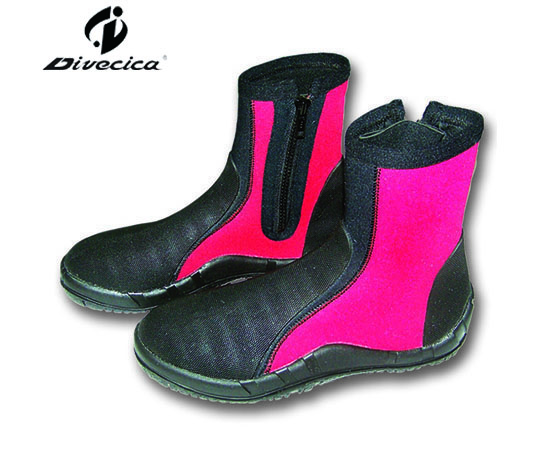VB-6019 BLACK&RED DIVING BOOTS