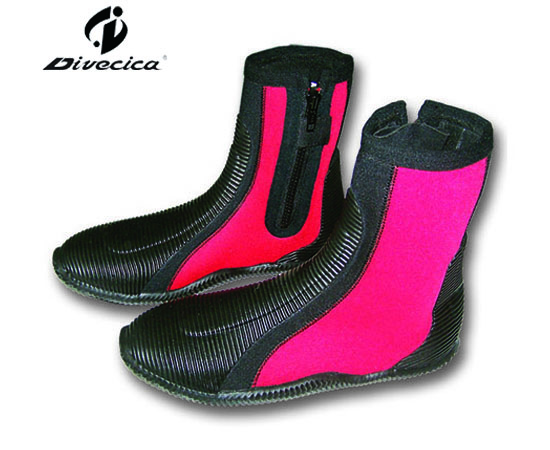 VB-6022 BLACK&RED DIVING BOOTS
