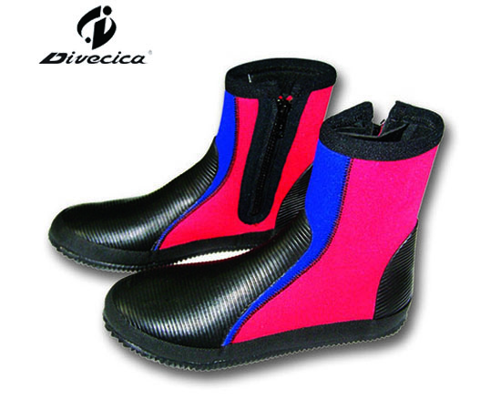 VB-6024 BLACK&RED DIVING BOOTS