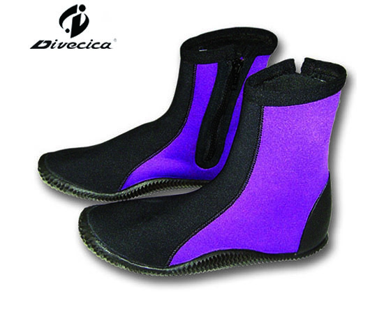 VB-6025 BLACK&PUEPLE DIVING BOOTS