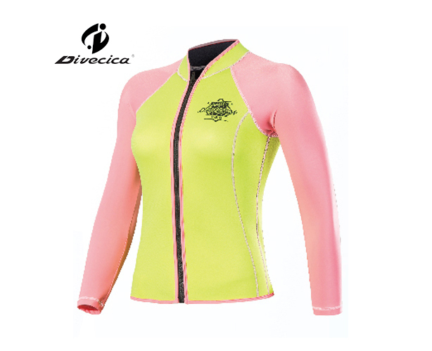 RG-6025 WOMEN RASH GUARD WITH DIFFERENT