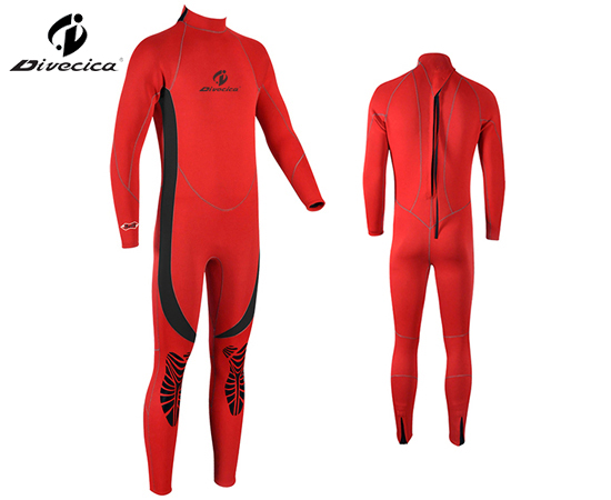 WS-6014 MEN RED AND BLACK WETSUIT