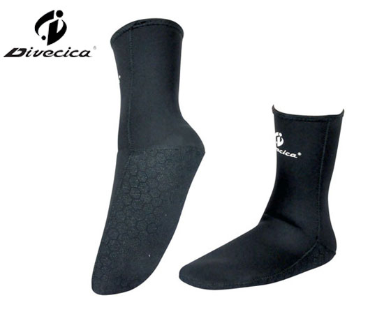 DS-6004 BLACK NEOPRENE DIVING SOCKS