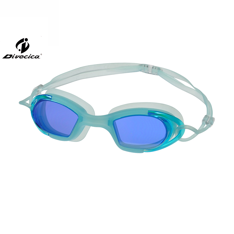 DIVECICA Swim Goggles, Swimming Goggles No Leaking Anti Fog UV Protection Triathlon Swim Goggles with Free Protection Case for Adult Men Women Youth Kids Child, Multiple Choice+8117DM