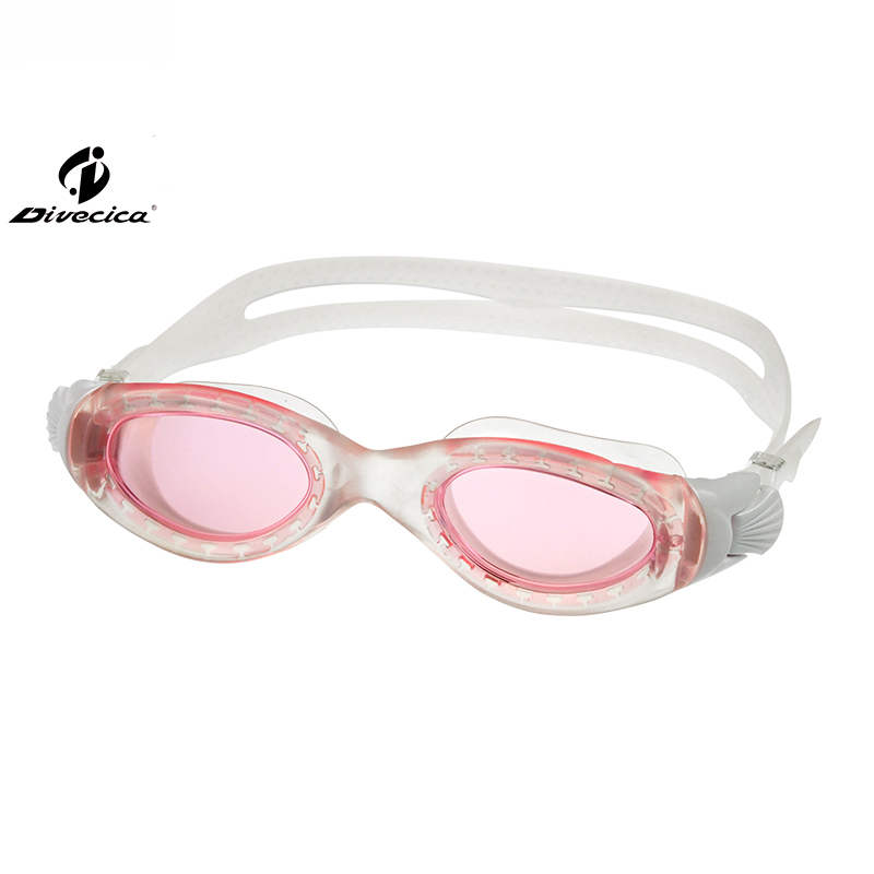 DIVECICA Swim Goggles, Swimming Goggles No Leaking Anti Fog UV Protection Triathlon Swim Goggles with Free Protection Case for Adult Men Women Youth Kids Child, Multiple Choice+8125S