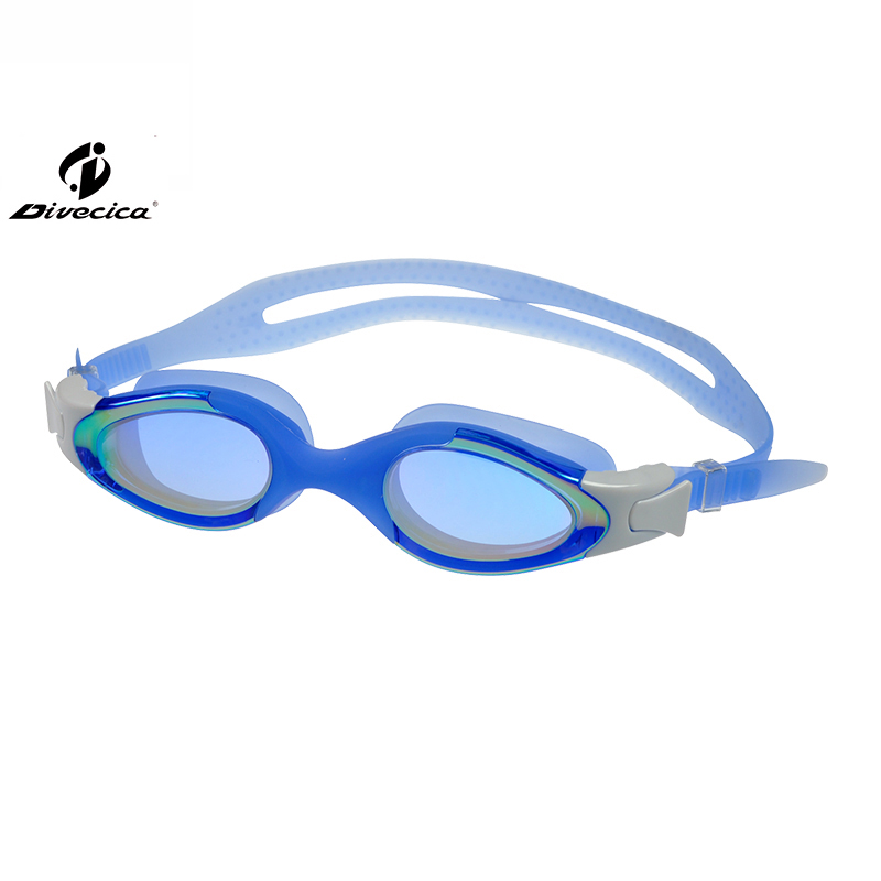 DIVECICA Swim Goggles, Swimming Goggles No Leaking Anti Fog UV Protection Triathlon Swim Goggles with Free Protection Case for Adult Men Women Youth Kids Child, Multiple Choice+8126DM