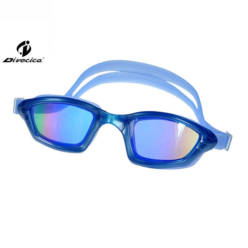 DIVECICA Swim Goggles, Swimming Goggles No Leaking Anti Fog UV Protection Triathlon Swim Goggles with Free Protection Case for Adult Men Women Youth Kids Child, Multiple Choice+8129DM