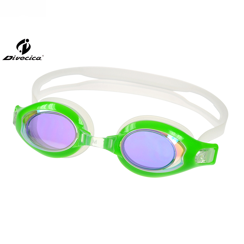 DIVECICA Swim Goggles, Swimming Goggles No Leaking Anti Fog UV Protection Triathlon Swim Goggles with Free Protection Case for Adult Men Women Youth Kids Child, Multiple Choice+8133DM