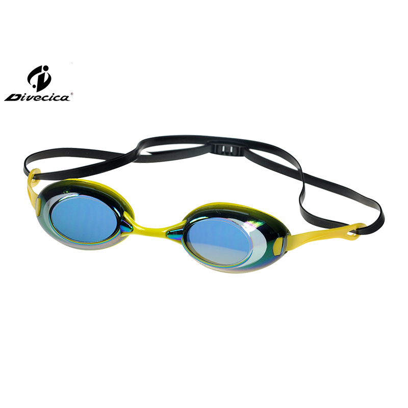 DIVECICA Swim Goggles, Swimming Goggles No Leaking Anti Fog UV Protection Triathlon Swim Goggles with Free Protection Case for Adult Men Women Youth Kids Child, Multiple Choice+9112DM