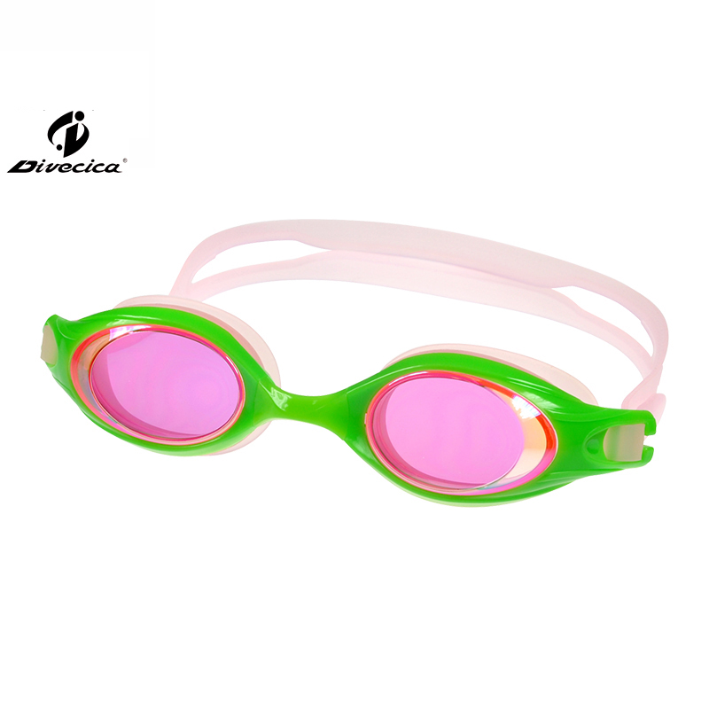 DIVECICA Swim Goggles, Swimming Goggles No Leaking Anti Fog UV Protection Triathlon Swim Goggles with Free Protection Case for Adult Men Women Youth Kids Child, Multiple Choice+9113DM