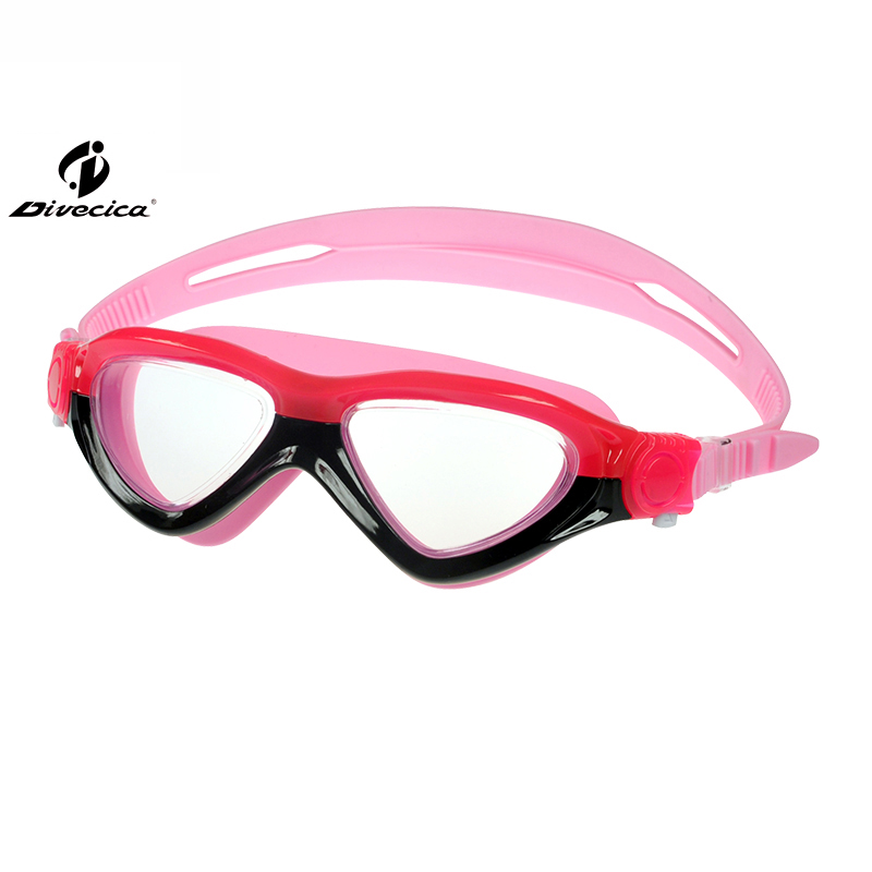 DIVECICA Swim Goggles, Swimming Goggles No Leaking Anti Fog UV Protection Triathlon Swim Goggles with Free Protection Case for Adult Men Women Youth Kids Child, Multiple Choice+9115S