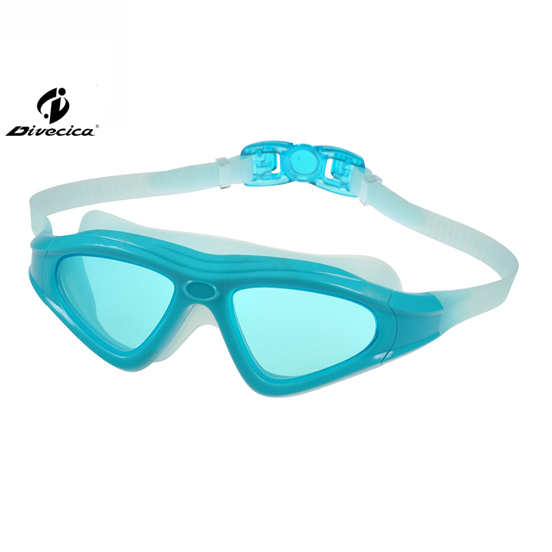DIVECICA Swim Goggles, Swimming Goggles No Leaking Anti Fog UV Protection Triathlon Swim Goggles with Free Protection Case for Adult Men Women Youth Kids Child, Multiple Choice+9121S