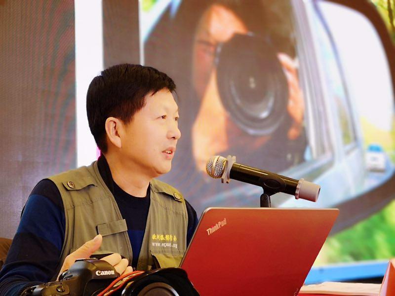 新年前夕,邓尚喜主席出席芜湖企业家摄影年会并讲课    温喜民摄