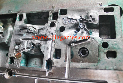 Picture of plastic miniatures tooling