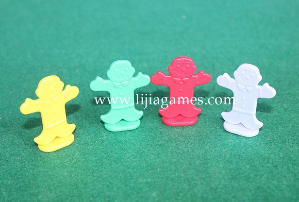 Picture of plastic candy land pieces