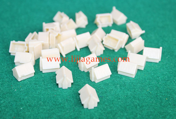 plastic cottage pieces